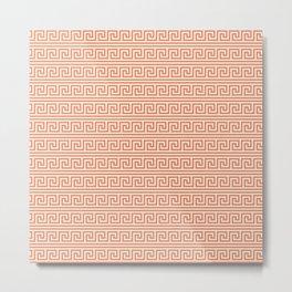 Yellow & Red Meander Pattern Metal Print