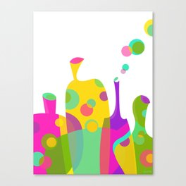 Colorful Funky Bottle Shapes I Canvas Print