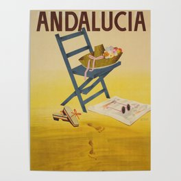 Andalucia Spain - Vintage Travel Posters Poster
