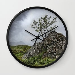 Windswept - Rannoch Moor- Scotttish Highlands Wall Clock