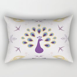 Peacock with feathers Rectangular Pillow