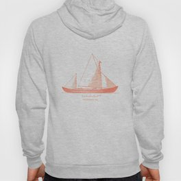 Conquer the sea on a red boat Hoody