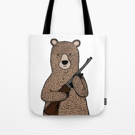 Danger bear color mode Tote Bag