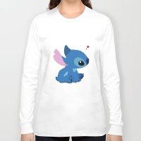 stitch Long Sleeve T-shirts featuring Stitch by Stapanda