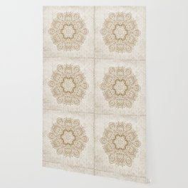 Mandala Temptation in Cream Wallpaper