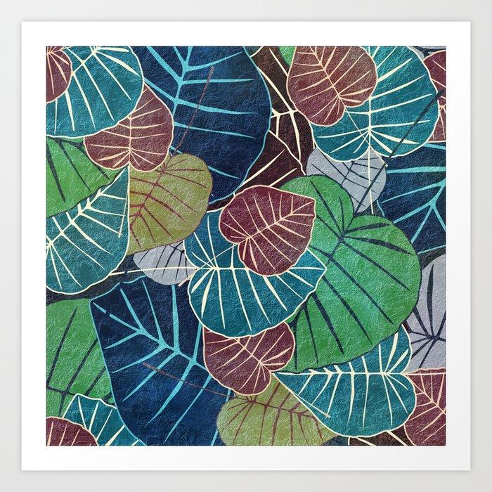 Leaf Pattern 2 Art Print