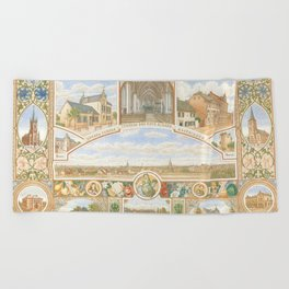 Vintage greeting from Opladen Beach Towel