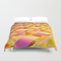 hologram Duvet Covers featuring RAINBOW PAPER SERIES 03 by MACHINEAST