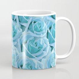 Antique Blue Rose Coffee Mug