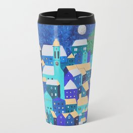 Moonlit Roofs, Corfu Town Travel Mug