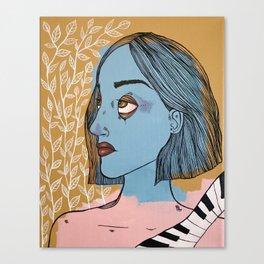 A Piano and A Vine Canvas Print