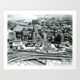 Downtown Providence, South From Statehouse Art Print