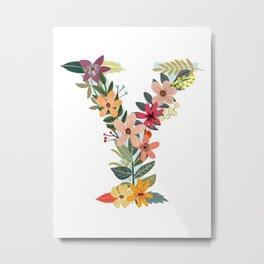 Monogram Letter Y Metal Print