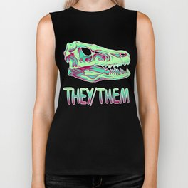 Velociraptor Skull Biker Tank
