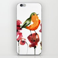 robin iPhone & iPod Skins featuring ROBIN by genie espinosa
