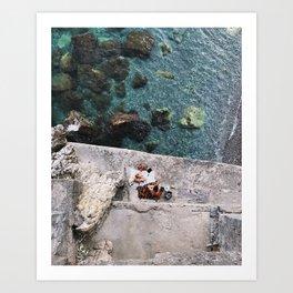 Secret Picnic, Amalfi Art Print