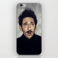 budapest hotel iPhone & iPod Skins featuring Adrien Brody / Grand Budapest Hotel by Heather Buchanan