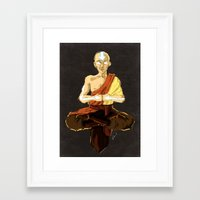 aang Framed Art Prints featuring Aang by luvami