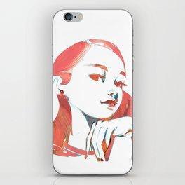 Pink girl iPhone Skin