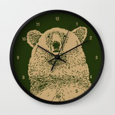 Kodiak Bear Wall Clock