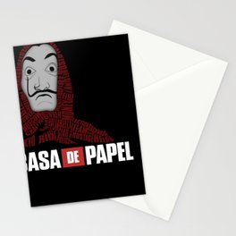 La casa de papel Stationery Cards