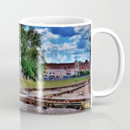 Railroad tracks crossing Coffee Mug