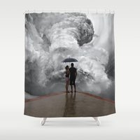 storm Shower Curtains featuring Storm by Cs025