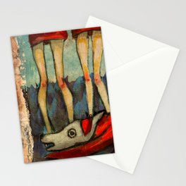 Five Little Red Riding Hoods 2 Stationery Cards