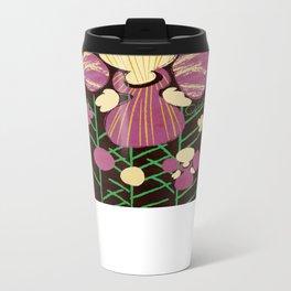 Floral Flower Artprint Metal Travel Mug