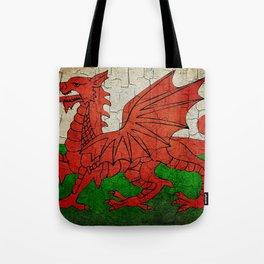 Vintage Wales flag Tote Bag