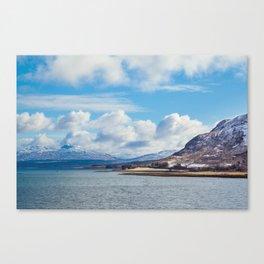 Snow Capped Cuillins Canvas Print