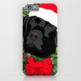 Duke the Lab does Christmas iPhone Case