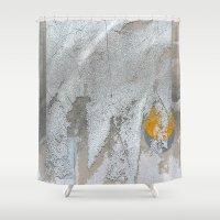 snow white Shower Curtains featuring White snow by dominiquelandau