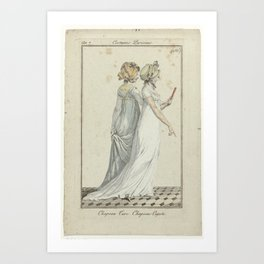 Journal des Dames et des Modes, Costume Parisien, 6 septembre 1799, An 7 (156)   Chapeau Turc..., an Art Print