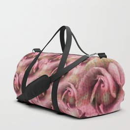 Knitted Rose Melting Ice Duffle Bag