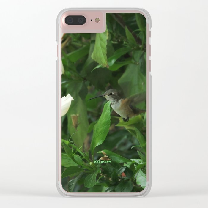Lady Lurking in the Shade Clear iPhone Case