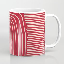 Digital Stitches thick red Coffee Mug