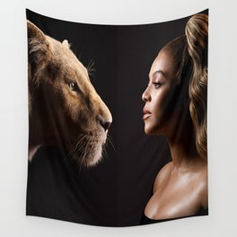 Lion Film Wall Tapestry