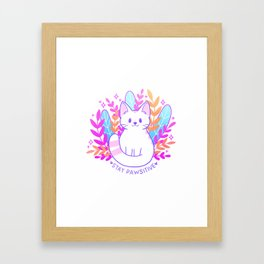 Pawsitive Cat Framed Art Print
