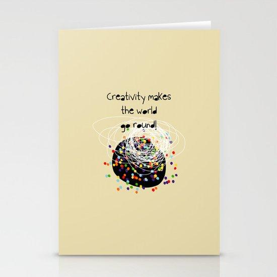 Creativity makes the world go round! Stationery Cards