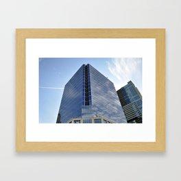 Edge on skyscraper Framed Art Print