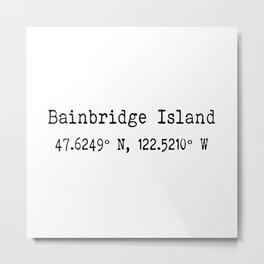 Bainbridge Island Metal Print