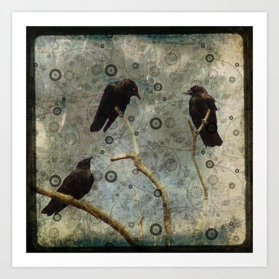 Crow Pop Art Print
