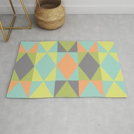 Diamond shapes in modern colors Rug