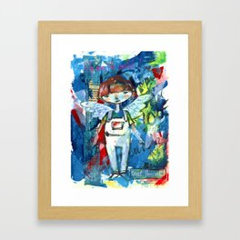 Fly over the world Framed Art Print