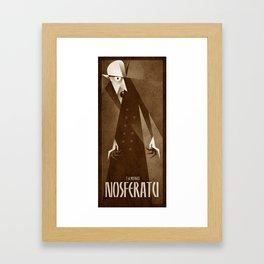 Nosferatu 1922 Framed Art Print