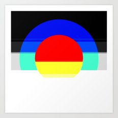 Colorful Mod Abstract Art Print