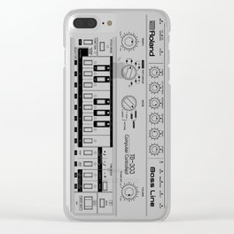 Roland TB-303 Bass Line Wireframe Clear iPhone Case