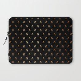 BLACK & ROSE GOLD SKULLS ALL OVER PRINT LARGE Laptop Sleeve