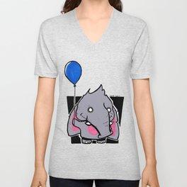 Chibi Elephant  Unisex V-Neck